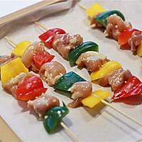 彩椒鸡肉烤串的做法图解3