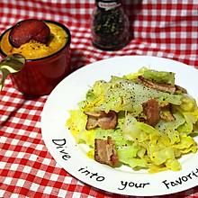10分钟搞定的下饭菜—培根手撕包菜