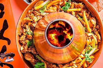 薯条牛蛙锅,鲜辣诱人的创意美味