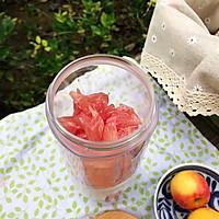 蜂蜜花红柚子汁的做法图解5
