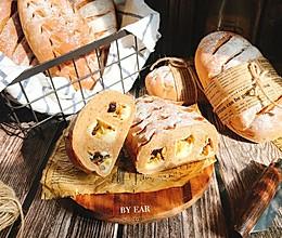 干果乳酪奶茶全麦软欧 波兰种 一定要试一试的早餐面包的做法