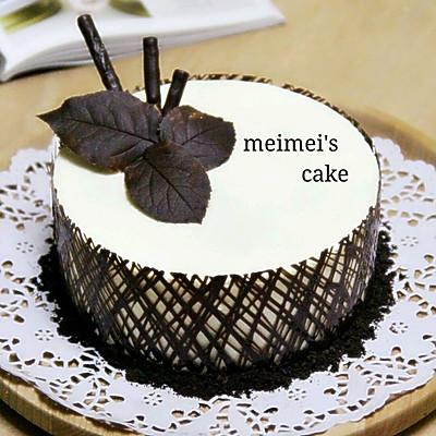 ——超简单慕斯蛋糕【巧克力围边】