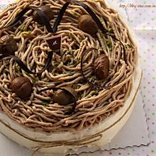 蒙布朗风栗子蛋糕