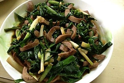 腰子炒韭菜