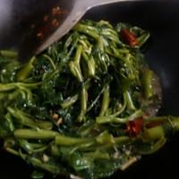 炝炒空心菜(藤菜,钢管菜)的做法图解5