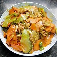 胡萝卜莴笋炒肉片的做法图解12