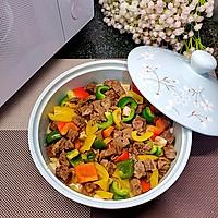 营养丰富又好吃的杏鲍菇彩椒牛肉粒,不用明火也可以做的做法图解8