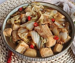 白菜五花肉炖豆腐的做法