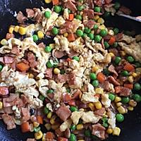 饭菜合一的营养低卡简餐-培根炒饭的做法图解7