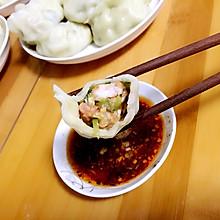 青瓜虾仁饺子