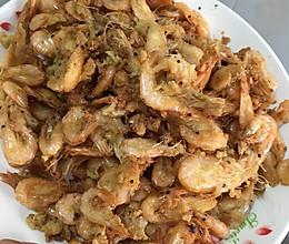 油炸小虾。的做法