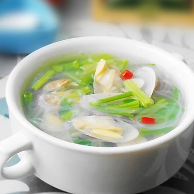 芹菜粉丝花蛤汤
