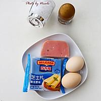 火腿芝士鸡蛋卷的做法图解1