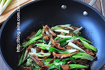 蚌肉炒青蒜