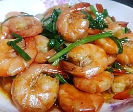 香葱油焖虾的做法