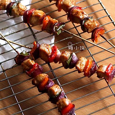 【彩椒鸡肉烤串】