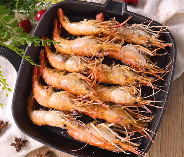 盐焗虾(烤箱版)的做法