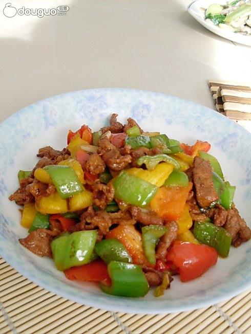 双椒炒牛肉的做法