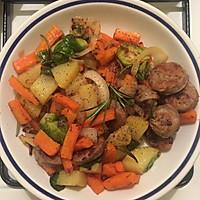 米兰香肠煎蔬菜的做法图解5