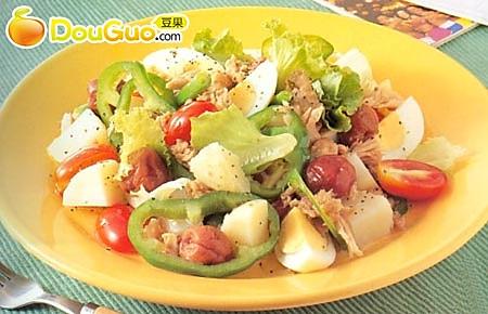 鸡蛋番茄沙拉 的做法