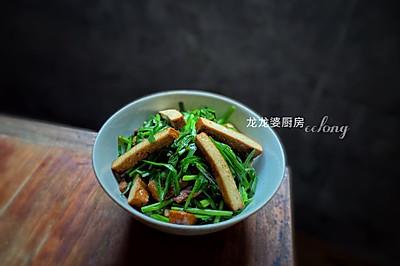 家常快手菜【韭菜炒豆腐干】
