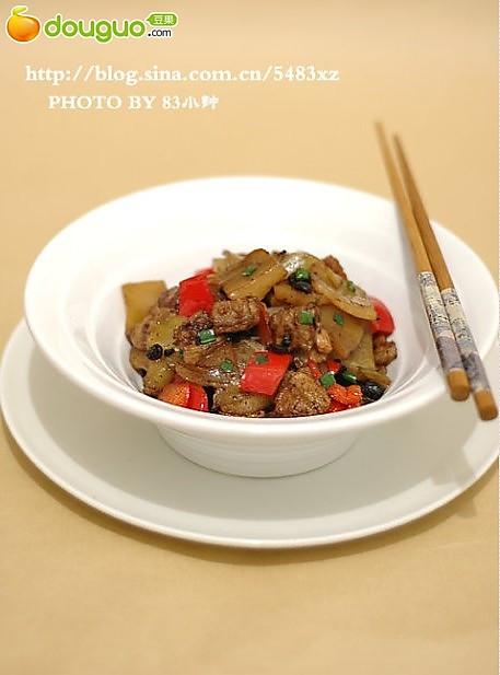 豆豉榨菜炒肉片的做法