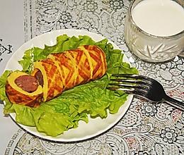 牛肉肠鸡蛋卷的做法