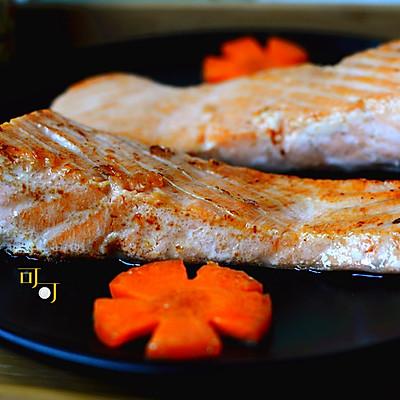 盐煎三文鱼