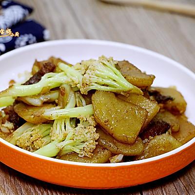 土豆烧菜花