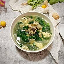 #快手又营养,我家的冬日必备菜品#海蛎子菠菜鸡蛋汤