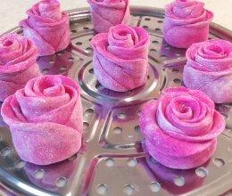 玫瑰花馒头 火龙果版本的做法