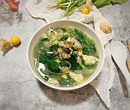 #快手又营养,我家的冬日必备菜品#海蛎子菠菜鸡蛋汤的做法