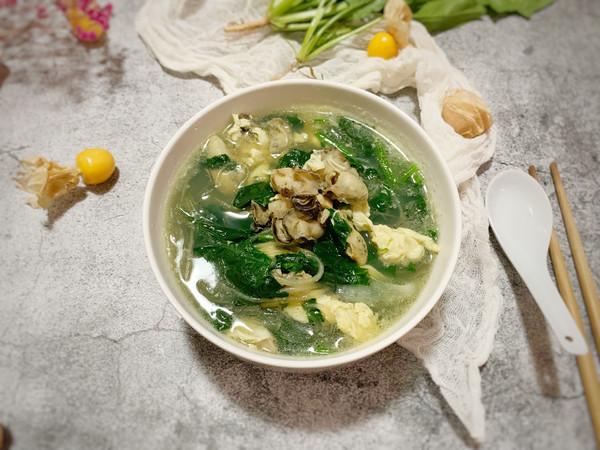 海蛎子菠菜鸡蛋汤的做法
