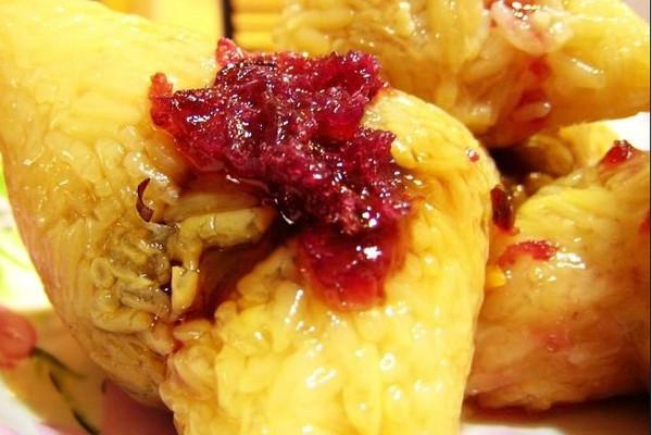 玫瑰粽子的做法