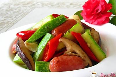 十分钟的快手菜---西葫芦炒香肠
