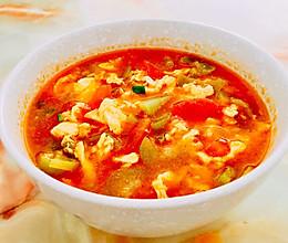 番茄丝瓜鸡蛋汤的做法