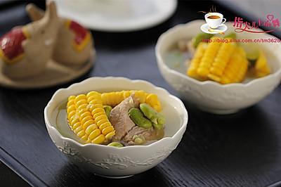 玉米蚕豆排骨汤