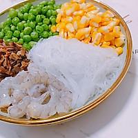 虾仁粉丝生煎包 饺子皮 不用擀面发面 饺子皮做包子的做法图解1