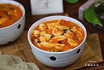 番茄虾仁剪刀面---开胃面食