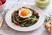 菌菇炒杂蔬+太阳蛋的做法