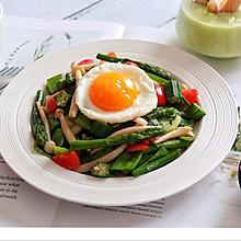 菌菇炒杂蔬+太阳蛋