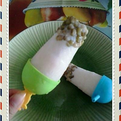 绿豆牛奶冰棒
