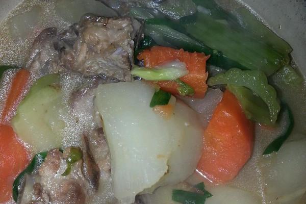 芥菜头排骨煲的做法