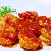色泽红润,营养美味——茄汁虾球