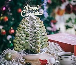 菠菜圣诞树面包(一发)的做法