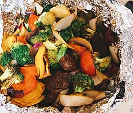 空气炸锅烤蔬菜的做法
