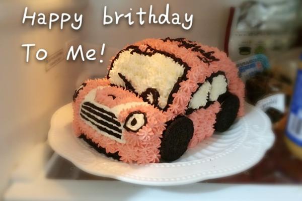 粉嘟嘟小汽车蛋糕的做法
