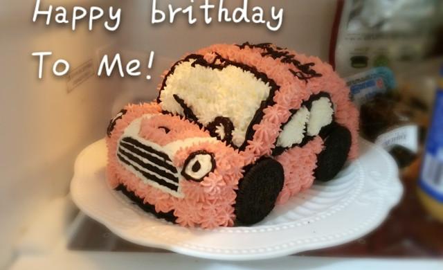 粉嘟嘟小汽车蛋糕
