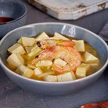 鲜虾韭黄炖豆腐