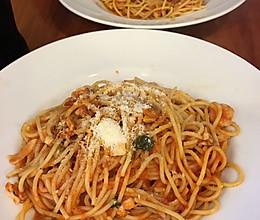 番茄酱海鲜意大利面的做法